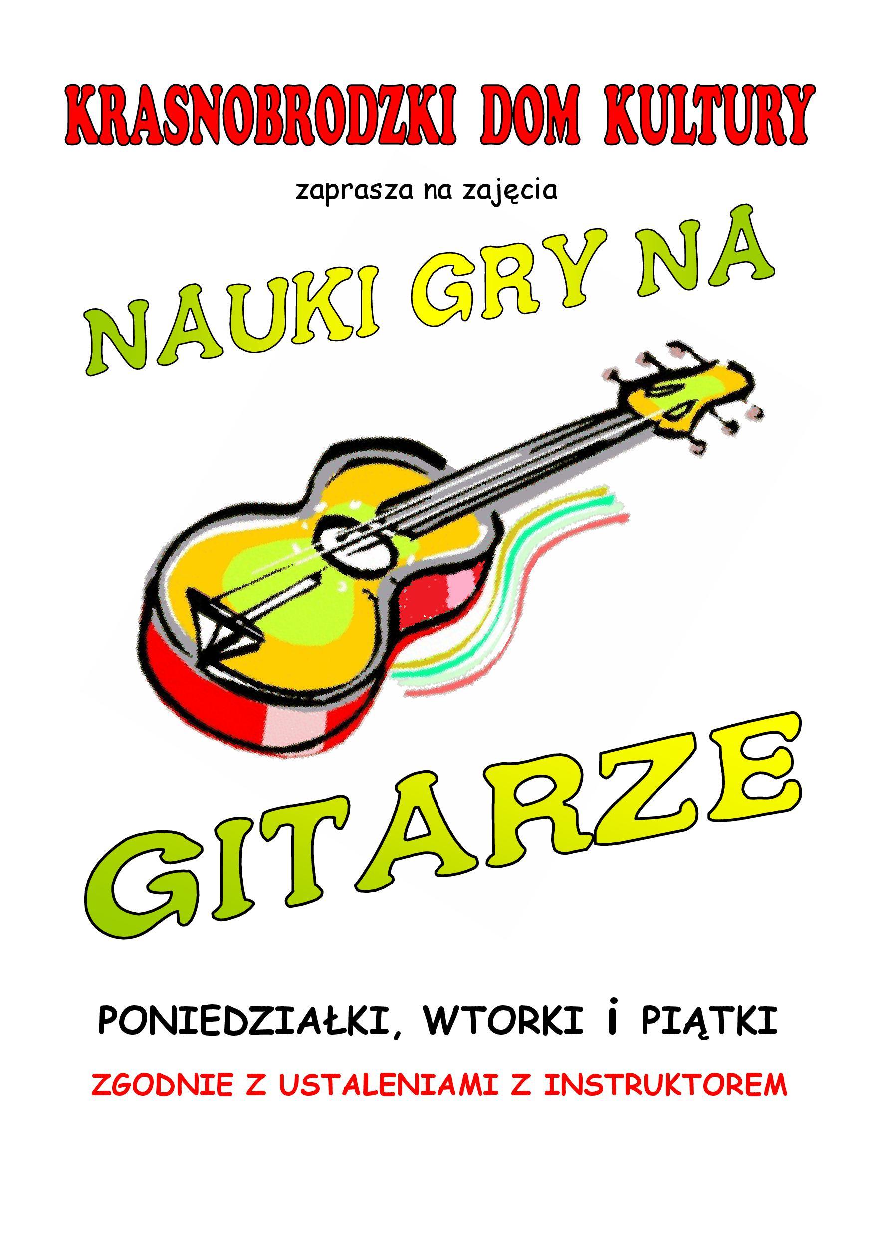 zajęcia gitarowe plakat A3