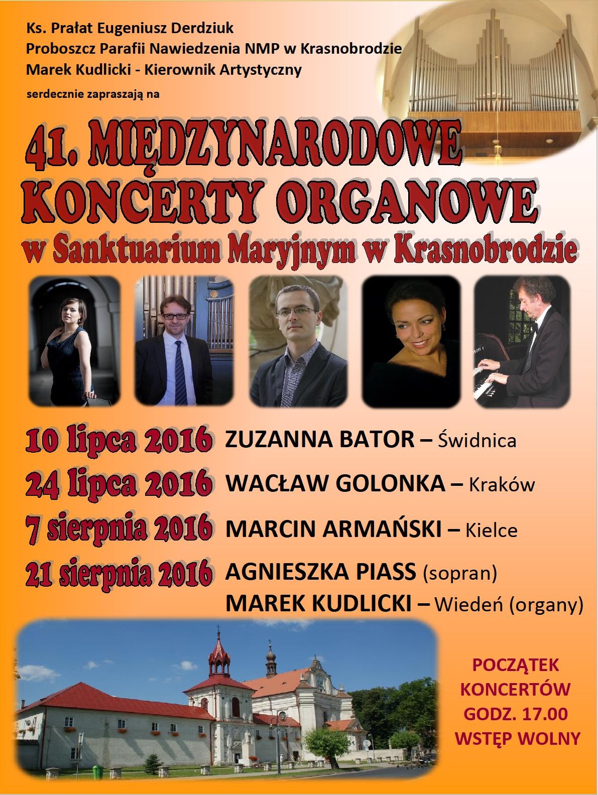 41. Międzynarodowe Koncerty Organowe 2016