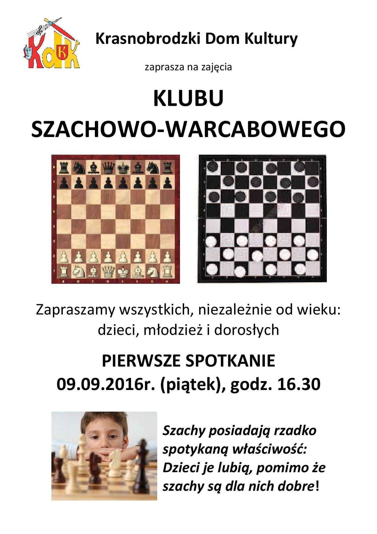 Plakat Klub szachowo warcabowy 2016