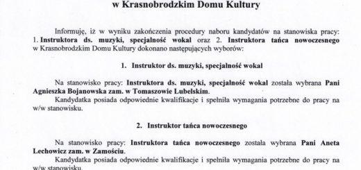 Informacja o wyborze na stanowiska w KDK