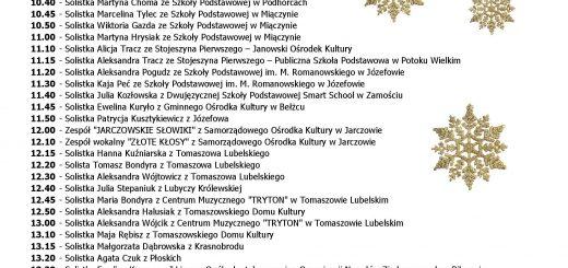 Festiwal Kolęd i Patorałek 2017 wykaz plakat A3