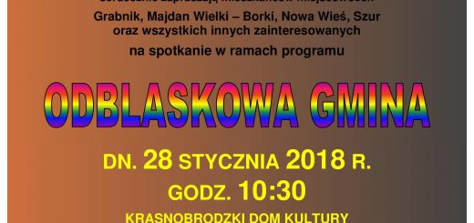 Plakat odblaskowa gmina