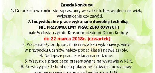 Konkurs wielkanocny 2018 plakat A4