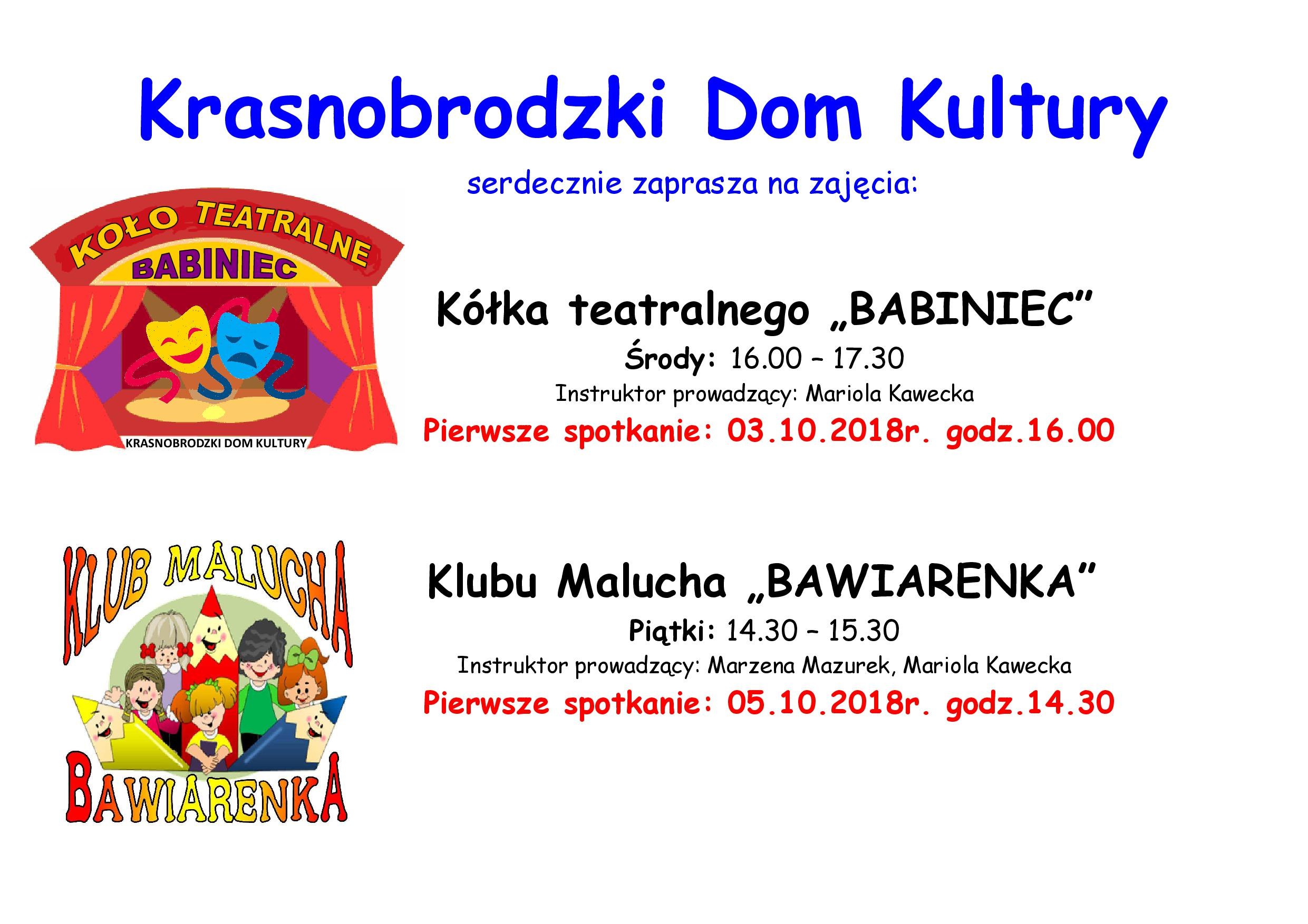 zajęcia KDK teatralne bawiarenka