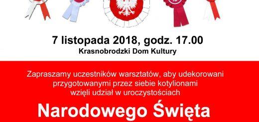 Kotyliony Warsztaty plastyczne 07.11.2018 plakat