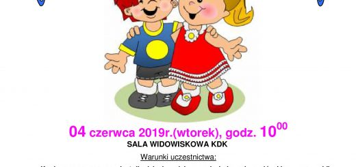 Konkurs przedszkolaka plakat A3