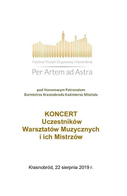 2019.08.22 program Koncert u Ducha