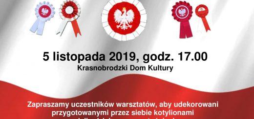 2019.11.05 Kotyliony Warsztaty plastyczne plakat