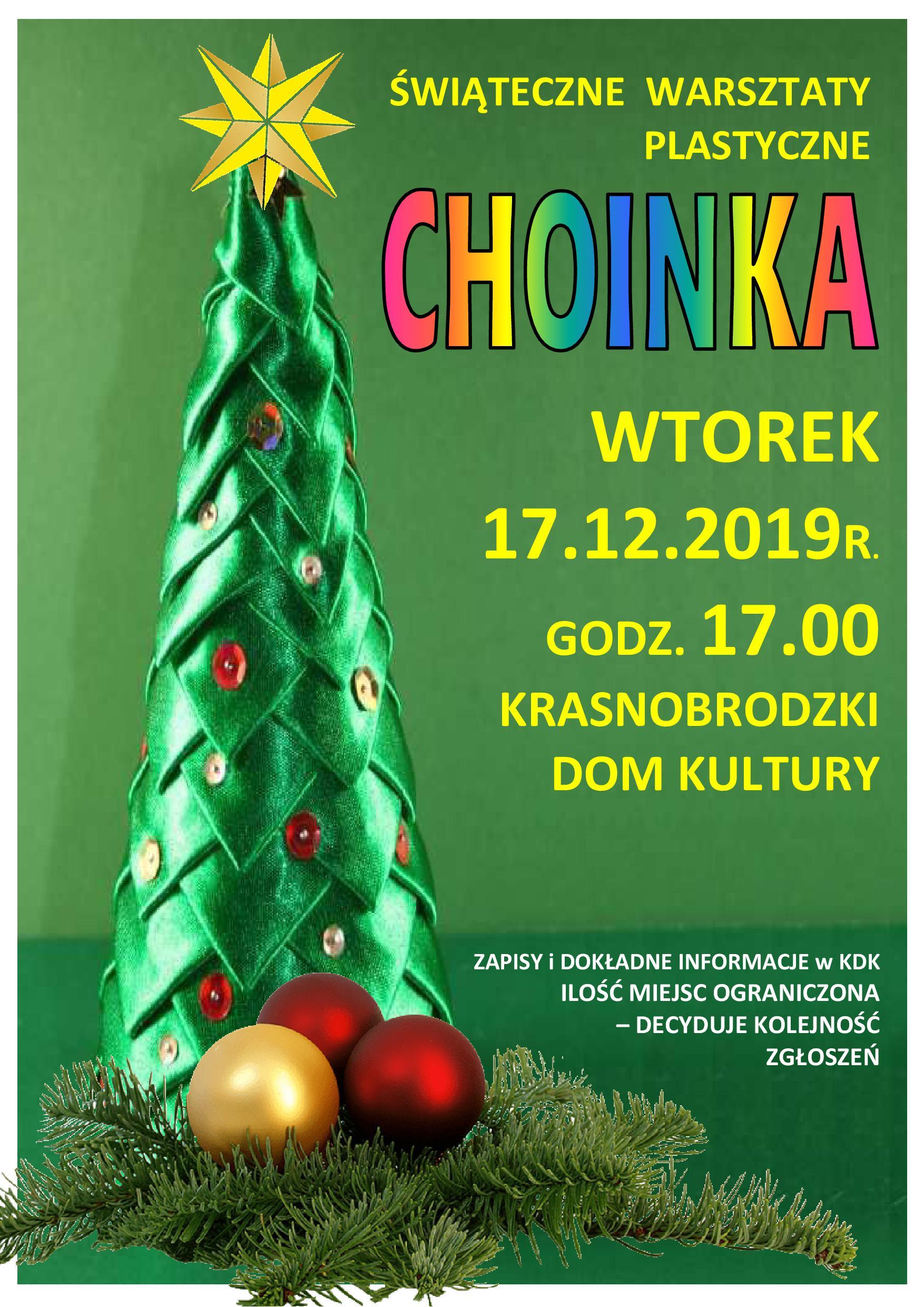 plakat A3 warsztaty plastyczne KDK